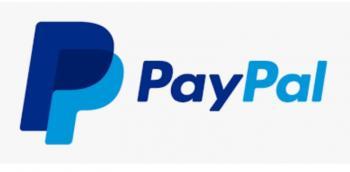 PayPal-logo på hvit bakgrunn.